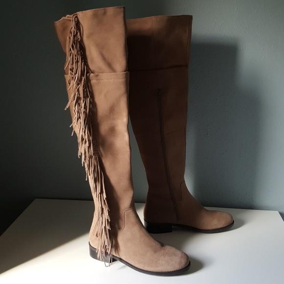3a0e6a91b6c86 NEW Steve Madden OTK Fringe Suede Boots Wowwzer